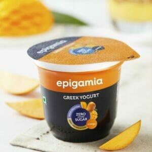 Epigamia Greek Yogurt - No Added Sugar, Alphonso Mango - 120 gm