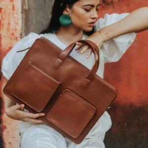 Rashki Cheri Vegan Leather 14.5'' Laptop Bag