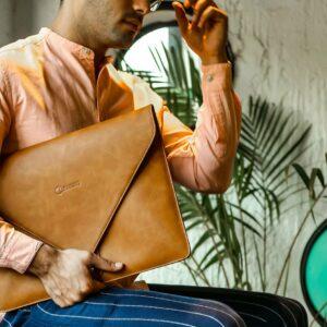 "Rashki Cocoa Vegan Leather 14.5"" Laptop Sleeve"