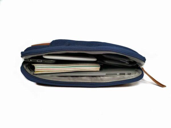 "Rashki Juta Vegan Leather and Jute 14.5"" Laptop Sleeve"