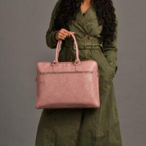 Rashki Coral Vegan Leather 15'' Laptop Bag