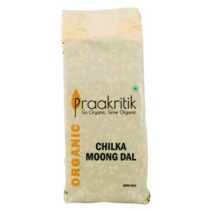 Praakritik Organic Chilka Hara Moong (Pack Of 4)