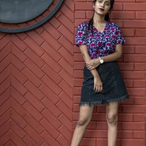 Batik printed Handloom Khadi Top