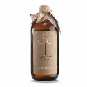 Conscious Food Organic Groundnut Oil, 500ml