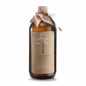 Conscious Food Organic Sunflower Oil, 500ml