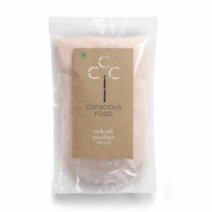 Conscious Food Natural Rock Salt, 500g