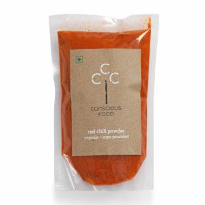 Conscious Food Organic Red Chilli Powder, 100g