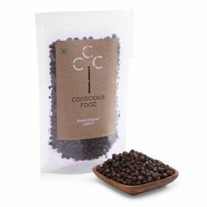 Conscious Food Organic Black Pepper, 100g