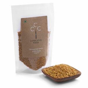Conscious Food Organic Fenugreek Seeds, 100g