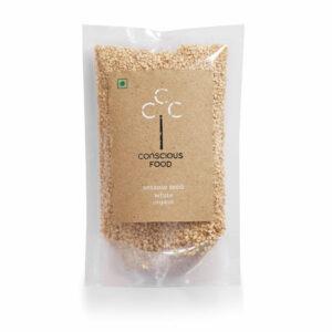 Conscious Food Organic Sesame Seeds (White), 100g