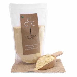 Conscious Food Organic Bengal Gram Flour (Chana Atta), 500g