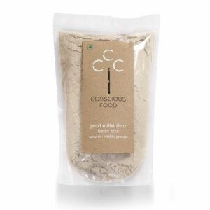 Conscious Food Organic Pearl Millet Flour (Bajra Atta), 500g