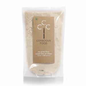 Conscious Food Natural Six Grain Flour (Wheat Free), 500g