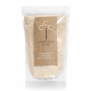 Conscious Food Organic Sorghum Flour (Jowar Atta), 500g