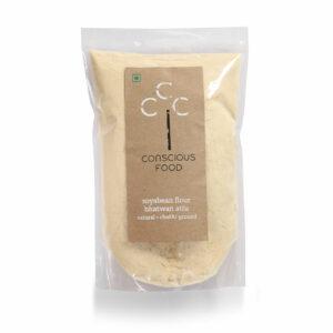 Conscious Food Organic Soyabean Flour, 500g