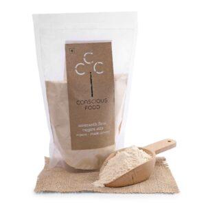 Conscious Food Organic Amaranth Flour (Rajgira Atta), 500g