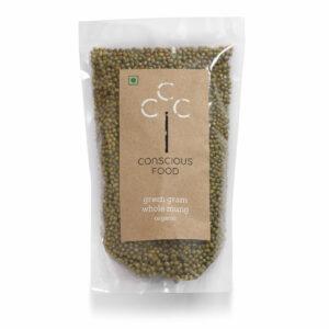 Conscious Food Organic Green Gram (Whole Mung), 500g