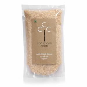 Conscious Food Organic Split Black Gram (Urad Dal), 500g