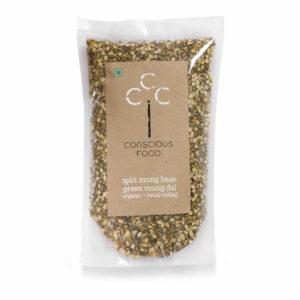 Conscious Food Organic Split Mung Bean (Split Mung Dal), 500g