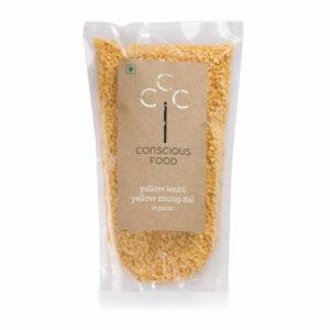 Conscious Food Organic Yellow Mung Dal, 500g