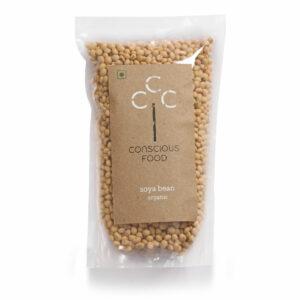 Conscious Food Organic Soyabean, 500g