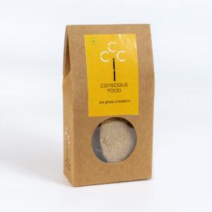 Conscious Food Natural Six Grain Crackers, 25g