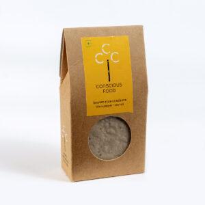 Conscious Food Natural Brown Rice Crackers, 40g