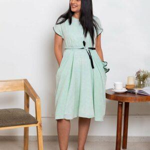 Patio Breeze Dress(Sea Blue)
