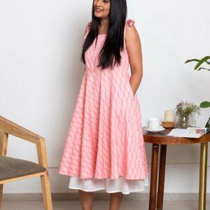 Potpourri Bow Dress-Rose Pink