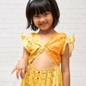 Sunny Palm Knotted Dress