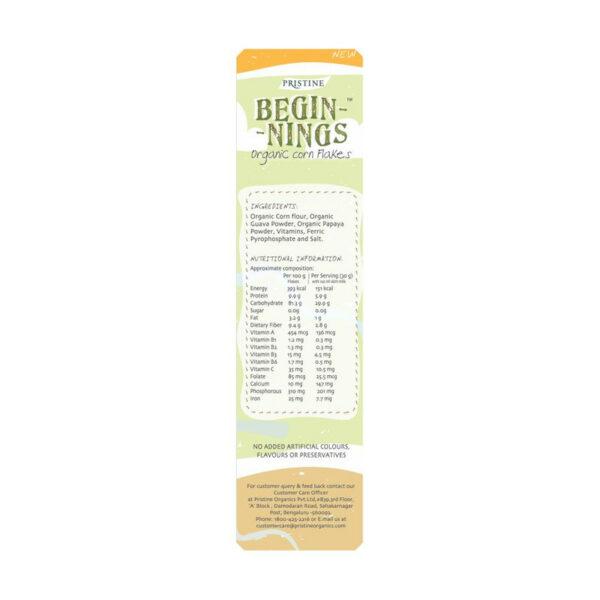 PRISTINE Beginnings Organic Corn - Flakes, 300gm Pack of 5
