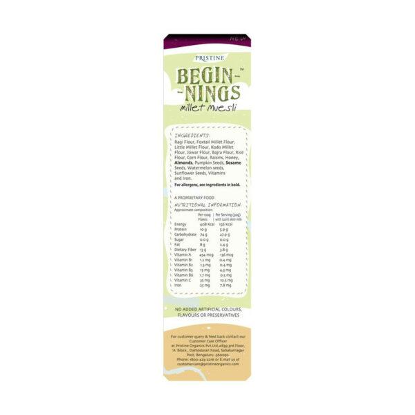 PRISTINE Beginnings Organic Millet Muesli, 300gm Pack of 4