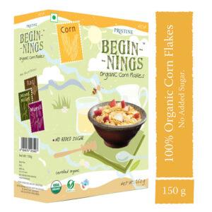 PRISTINE Beginnings Organic Corn - Flakes, 150gm Pack of 2