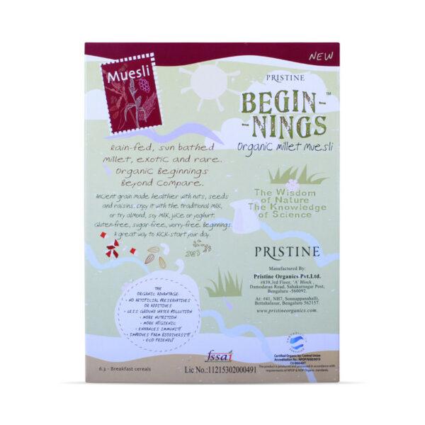 PRISTINE Beginnings Organic Millet Muesli, 150gm Pack of 2