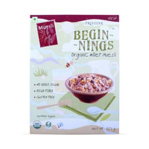 PRISTINE Beginnings Organic Millet Muesli, 150gm Pack of 4