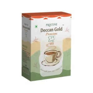 PRISTINE Deccan GoldPremium CTC Leaf Tea, 250 gm Pack of 5