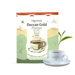 PRISTINE Deccan GoldPremium CTC Leaf Tea, 100 gm Pack of 5