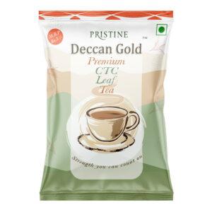 PRISTINE Deccan GoldPremium CTC Leaf Tea, 15 gm Pack of 4