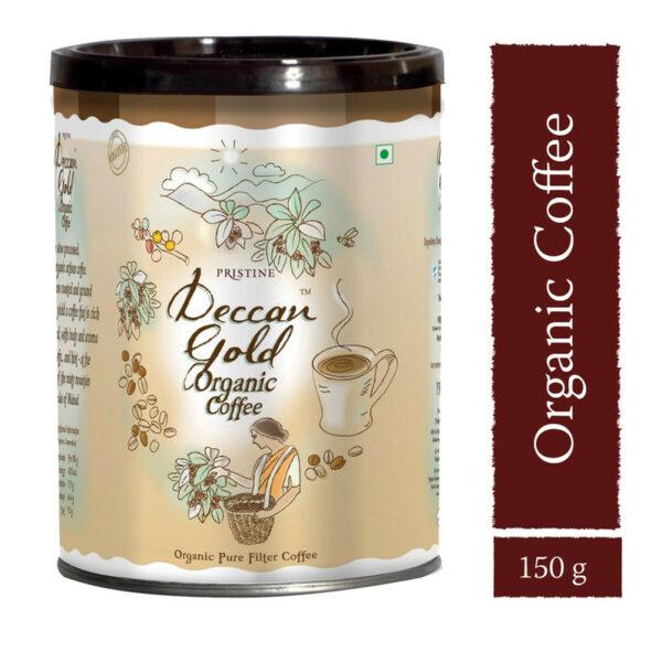 PRISTINE Deccan GoldOrganic Filter Coffee, 150gm Pack of 5
