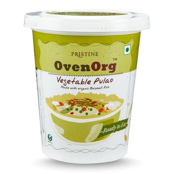 PRISTINE OvenOrg Ready To Eat Organic Veg Pulao, 80gm Pack of 5