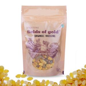 PRISTINE Fields of Gold Organic Raisins, 100gm Pack of 4