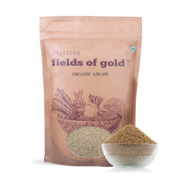 PRISTINE Fields of Gold Organic Ajwain, 100gm Pack of 4
