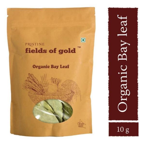 PRISTINE Fields of Gold Organic Bay Leaf, 10gm Pack of 2