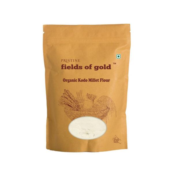 PRISTINE Fields of Gold Organic Kodo Millet Flour, 500gm Pack of 2