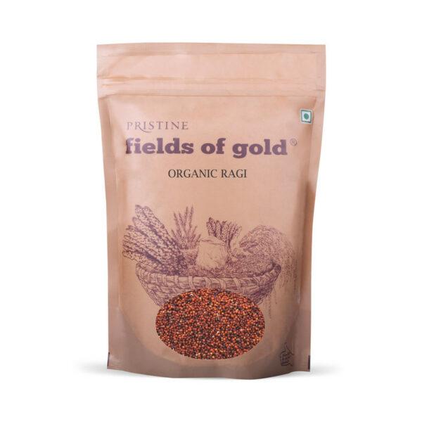 PRISTINE Fields of Gold Organic Ragi, 500gm Pack of 1
