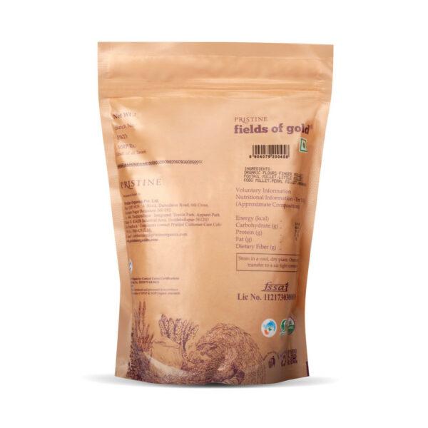 PRISTINE Fields of Gold Organic Multi Millet Gluten Free Flour, 500gm Pack of 4