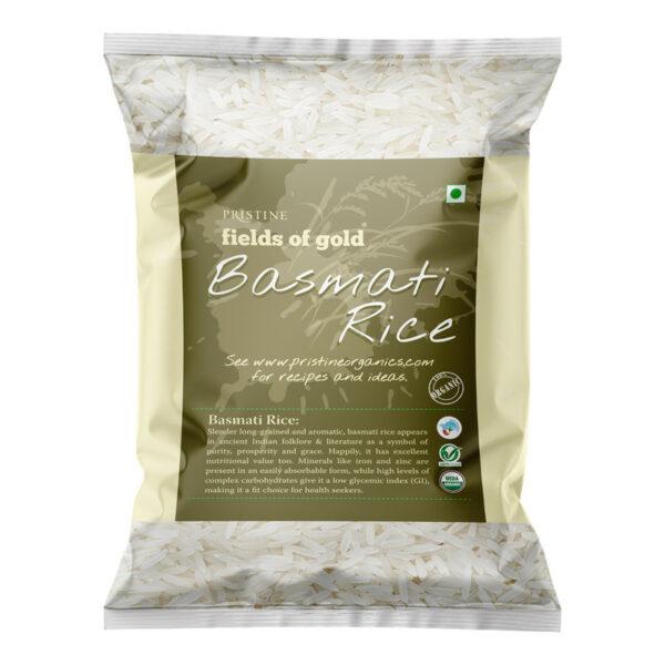 PRISTINE Fields of Gold Organic Basmati Rice, 1kg Pack of 1