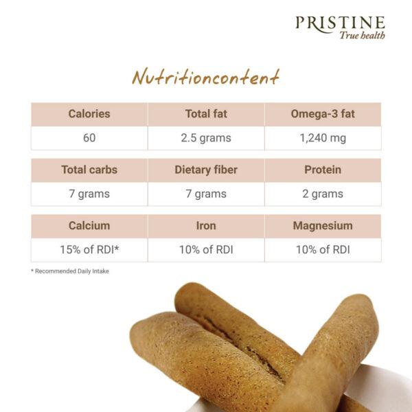 PRISTINE OvenOrg Multi Millet Bread Stick, 100gm Pack of 4