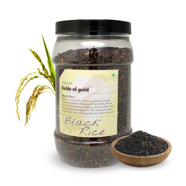 PRISTINE Fields of Gold Black Rice Jar, 1Kg Pack of 4
