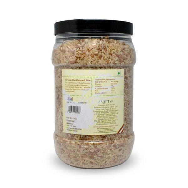 PRISTINE Fields of Gold Rajamudi Rice Jar, 1Kg Pack of 4